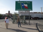 Bob in front of El Paso/Juarez border crossing