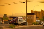 Evening smoke from Los Alamos fires, New Mexico