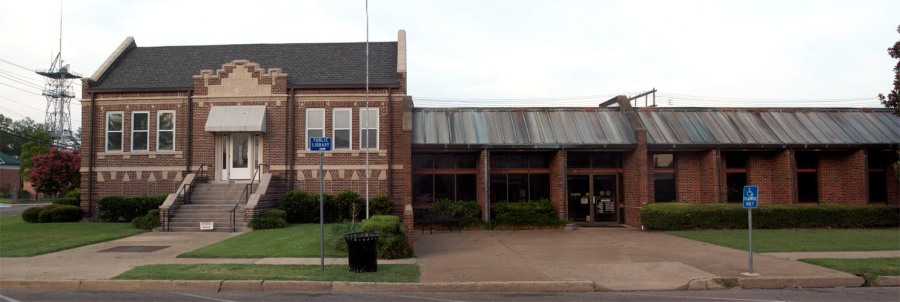 Old Carnegie and new library, Clarksdale, MS
