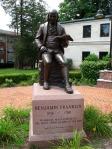 Ben Franklin statue, Franklin, MA