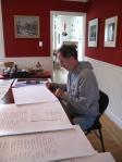 Signing Kickstarter prints