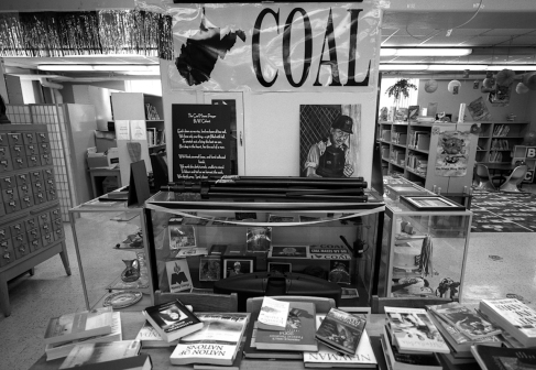 Coal sign in library, Williamson, WV