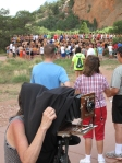JoAnn Verberg and runners, Garden of the Gods, CO