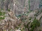 Looking down 2,000 feet, Black Canyon of the Gunnison, CO