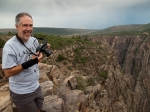 RD photographing at Black Canyon of the Gunnison, CO