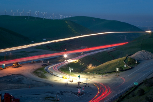 Commuter traffic at dusk, Altamont Pass copy 5