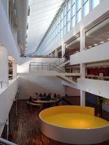 Interior of library, Rio de Janeiro, Brazil by Walker Dawson