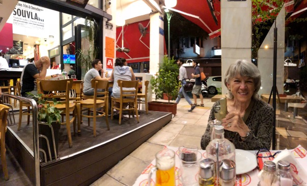 1st night dinner, Athens