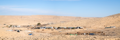 Bedouin community (and camels), Negev Desert